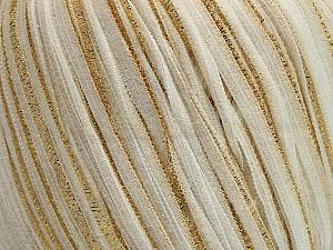 Fiber Content 70% Polyamide, 30% Metallic Lurex, White, Brand ICE, Gold, fnt2-57850