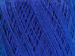 Fiber Content 90% Metallic Lurex, 10% Viscose, Brand ICE, Blue, fnt2-57851