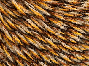 Fiber Content 50% Acrylic, 50% Wool, Brand ICE, Gold, Brown, Black, Beige, Yarn Thickness 3 Light  DK, Light, Worsted, fnt2-57866