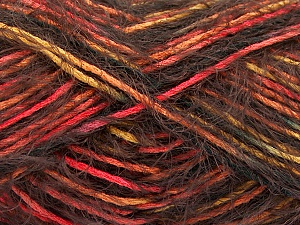 Fiber Content 55% Acrylic, 45% Polyamide, Salmon, Orange, Brand ICE, Gold, Brown, Yarn Thickness 4 Medium  Worsted, Afghan, Aran, fnt2-57884