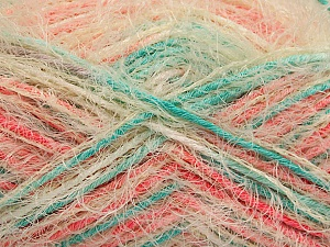 Fiber Content 55% Acrylic, 45% Polyamide, Salmon, Mint Green, Brand ICE, Cream, Yarn Thickness 4 Medium  Worsted, Afghan, Aran, fnt2-57887