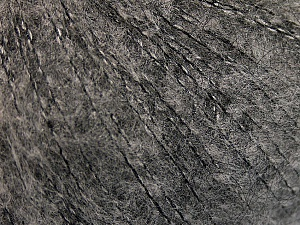 Knitted as 4 ply Fiber Content 40% Polyamide, 30% Acrylic, 30% Kid Mohair, Brand ICE, Grey, fnt2-57967