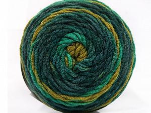 Fiber Content 100% Acrylic, Brand ICE, Green Shades, Yarn Thickness 4 Medium  Worsted, Afghan, Aran, fnt2-58025