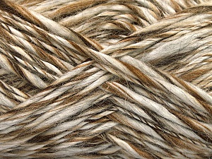 Fiber Content 90% Acrylic, 10% Wool, Brand ICE, Cream, Brown Shades, fnt2-58068