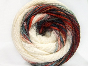 Fiber Content 90% Acrylic, 10% Polyamide, Red, Brand ICE, Green, Cream, Blue, Yarn Thickness 4 Medium  Worsted, Afghan, Aran, fnt2-58126