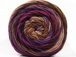 Fiber Content 100% Acrylic, Purple Shades, Brand ICE, Brown Shades, Yarn Thickness 4 Medium  Worsted, Afghan, Aran, fnt2-58138