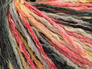 Fiber Content 50% Cotton, 50% Acrylic, Yellow, Pink, Brand ICE, Grey Shades, Yarn Thickness 4 Medium  Worsted, Afghan, Aran, fnt2-58160