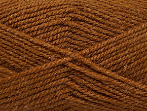 Fiber Content 50% Wool, 50% Acrylic, Brand ICE, Brown, Yarn Thickness 4 Medium  Worsted, Afghan, Aran, fnt2-58183