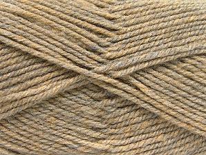 Fiber Content 50% Wool, 50% Acrylic, Brand ICE, Beige Melange, Yarn Thickness 4 Medium  Worsted, Afghan, Aran, fnt2-58185