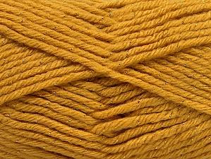 Fiber Content 72% Premium Acrylic, 3% Metallic Lurex, 25% Wool, Brand ICE, Gold, fnt2-58200