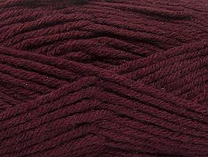 Fiber Content 72% Premium Acrylic, 3% Metallic Lurex, 25% Wool, Maroon, Brand ICE, fnt2-58202
