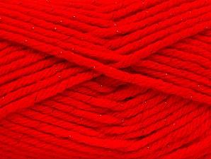 Fiber Content 72% Premium Acrylic, 3% Metallic Lurex, 25% Wool, Red, Brand ICE, fnt2-58207