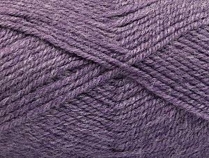 Fiber Content 50% Wool, 50% Acrylic, Lilac Melange, Brand ICE, Yarn Thickness 4 Medium  Worsted, Afghan, Aran, fnt2-58228