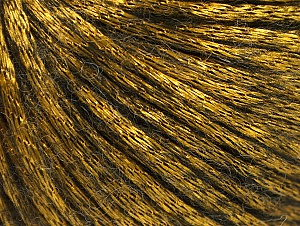 Fiber Content 70% Polyamide, 19% Merino Wool, 11% Acrylic, Brand ICE, Gold, Black, Yarn Thickness 4 Medium  Worsted, Afghan, Aran, fnt2-58237