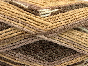 Fiber Content 50% Wool, 50% Acrylic, Brand ICE, Brown Shades, Yarn Thickness 4 Medium  Worsted, Afghan, Aran, fnt2-58276