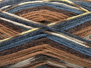 Fiber Content 50% Wool, 50% Acrylic, Brand ICE, Brown Shades, Blue Shades, Yarn Thickness 4 Medium  Worsted, Afghan, Aran, fnt2-58277