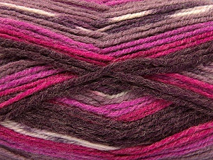 Fiber Content 50% Wool, 50% Acrylic, Purple, Maroon, Lilac, Brand ICE, Fuchsia, Yarn Thickness 4 Medium  Worsted, Afghan, Aran, fnt2-58280