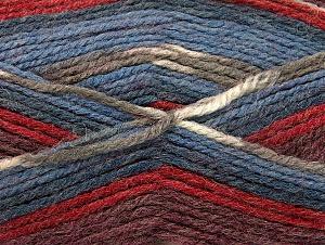 Fiber Content 50% Wool, 50% Acrylic, Red, Khaki, Brand ICE, Burgundy, Blue Shades, fnt2-58283