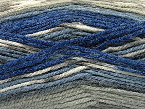 Fiber Content 50% Wool, 50% Acrylic, Brand ICE, Grey Shades, Blue Shades, Yarn Thickness 4 Medium  Worsted, Afghan, Aran, fnt2-58284
