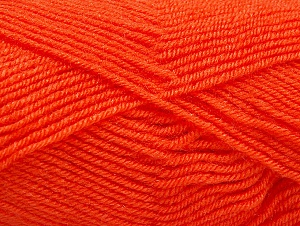 Fiber Content 60% Acrylic, 40% Wool, Orange, Brand ICE, Yarn Thickness 3 Light  DK, Light, Worsted, fnt2-58335