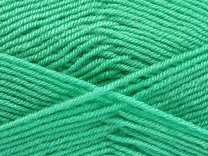 Fiber Content 60% Acrylic, 40% Wool, Mint Green, Brand ICE, Yarn Thickness 3 Light  DK, Light, Worsted, fnt2-58339