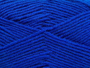 Fiber Content 60% Acrylic, 40% Wool, Brand ICE, Blue, Yarn Thickness 3 Light  DK, Light, Worsted, fnt2-58344