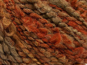 Fiber Content 50% Acrylic, 40% Wool, 10% Polyamide, Orange, Brand ICE, Brown Shades, fnt2-58352