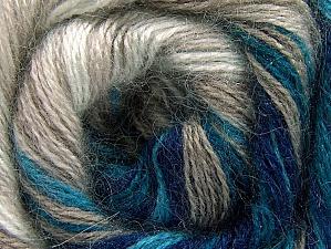 Fiber Content 50% Mohair, 50% Acrylic, White, Turquoise, Navy, Brand ICE, Beige, fnt2-58360