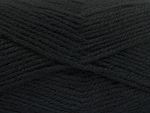 Fiber Content 50% Acrylic, 50% Wool, Brand ICE, Black, Yarn Thickness 4 Medium  Worsted, Afghan, Aran, fnt2-58366