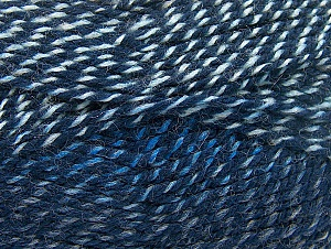 Fiber Content 50% Wool, 50% Acrylic, Brand ICE, Blue Shades, fnt2-58368