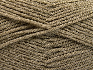 Fiber Content 50% Wool, 50% Acrylic, Brand ICE, Camel, Yarn Thickness 4 Medium  Worsted, Afghan, Aran, fnt2-58371