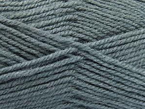 Fiber Content 50% Wool, 50% Acrylic, Brand ICE, Grey, Yarn Thickness 4 Medium  Worsted, Afghan, Aran, fnt2-58372