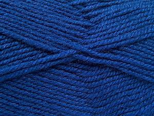 Fiber Content 50% Wool, 50% Acrylic, Brand ICE, Dark Blue, Yarn Thickness 4 Medium  Worsted, Afghan, Aran, fnt2-58373