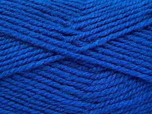 Fiber Content 50% Wool, 50% Acrylic, Brand ICE, Blue, Yarn Thickness 4 Medium  Worsted, Afghan, Aran, fnt2-58374