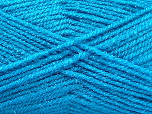 Fiber Content 50% Wool, 50% Acrylic, Turquoise, Brand ICE, fnt2-58375