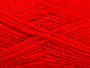 Fiber Content 50% Wool, 50% Acrylic, Red, Brand ICE, fnt2-58376