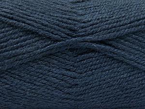 Fiber Content 50% Wool, 50% Acrylic, Navy, Brand ICE, Yarn Thickness 4 Medium  Worsted, Afghan, Aran, fnt2-58383