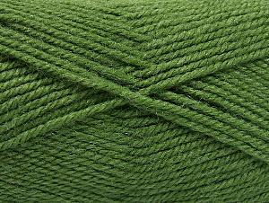 Fiber Content 50% Wool, 50% Acrylic, Brand ICE, Green, Yarn Thickness 4 Medium  Worsted, Afghan, Aran, fnt2-58384