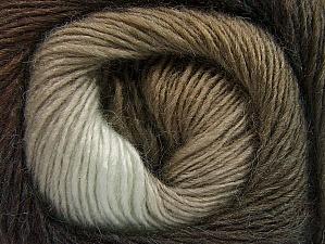 Fiber Content 60% Premium Acrylic, 20% Wool, 20% Alpaca, Brand ICE, Brown Shades, fnt2-58396