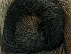 Fiber Content 60% Premium Acrylic, 20% Alpaca, 20% Wool, Brand ICE, Brown Shades, Anthracite, fnt2-58397