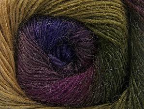 Fiber Content 60% Premium Acrylic, 20% Wool, 20% Alpaca, Purple, Maroon, Brand ICE, Green Shades, fnt2-58400