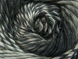 Fiber Content 70% Wool, 30% Acrylic, Brand ICE, Grey Shades, Yarn Thickness 5 Bulky  Chunky, Craft, Rug, fnt2-58435