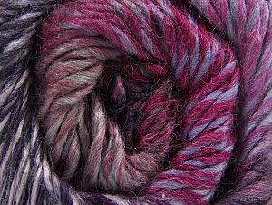 Fiber Content 70% Wool, 30% Acrylic, Purple Shades, Brand ICE, Fuchsia, Brown, Yarn Thickness 5 Bulky  Chunky, Craft, Rug, fnt2-58436