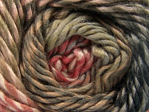 Fiber Content 70% Wool, 30% Acrylic, Salmon, Brand ICE, Brown Shades, Anthracite, Yarn Thickness 5 Bulky  Chunky, Craft, Rug, fnt2-58438