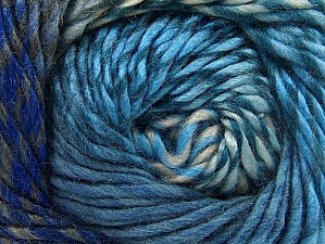 Fiber Content 70% Wool, 30% Acrylic, Turquoise, Brand ICE, Blue Shades, Anthracite Black, Yarn Thickness 5 Bulky  Chunky, Craft, Rug, fnt2-58444
