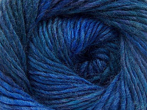 Fiber Content 70% Dralon, 30% Wool, Teal, Purple, Brand ICE, Blue Shades, Yarn Thickness 4 Medium  Worsted, Afghan, Aran, fnt2-58448