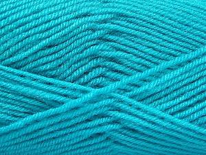 Fiber Content 60% Acrylic, 40% Wool, Turquoise, Brand ICE, fnt2-58459