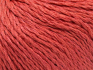Fiber Content 40% Bamboo, 35% Cotton, 25% Linen, Brand ICE, Dark Salmon, Yarn Thickness 2 Fine  Sport, Baby, fnt2-58471