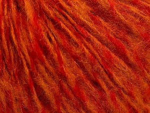 Fiber Content 70% Acrylic, 20% Wool, 10% Mohair, Red, Orange, Brand ICE, fnt2-58498