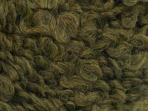 Fiber Content 9% Wool, 80% Acrylic, 11% Polyamide, Khaki, Brand ICE, Yarn Thickness 5 Bulky  Chunky, Craft, Rug, fnt2-58505